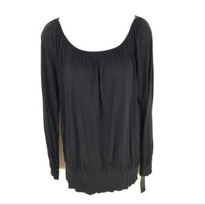 Daisy Fuentes Womens Black Top M NWT